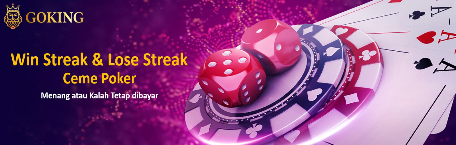 BONUS WINSTREAK & LOSE STREAK CEME POKER